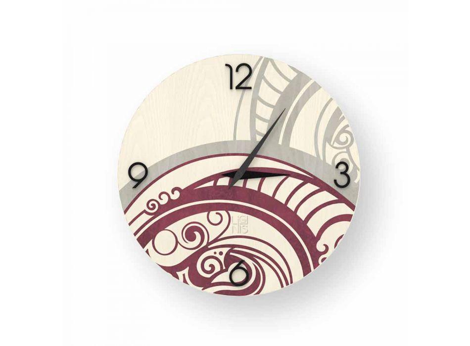 Adro abstraktní design nástěnné hodiny ze dřeva, vyrobené v Itálii