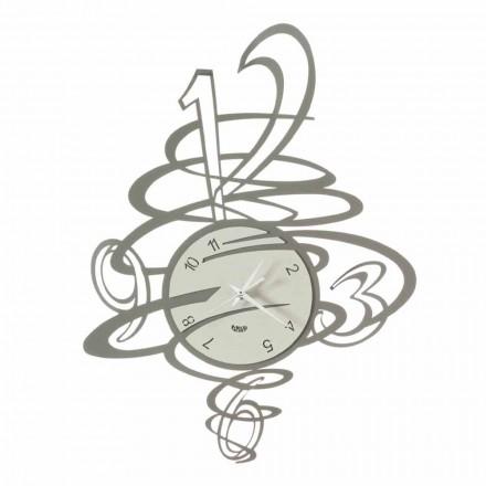 Elegantní a moderní design Železné nástěnné hodiny vyrobené v Itálii - Mikele