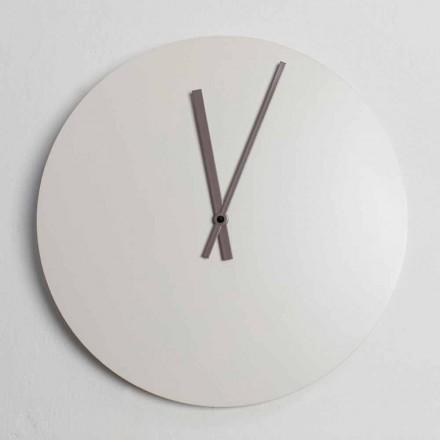Barevné moderní průmyslové nástěnné hodiny vyrobené v Itálii - Fobos