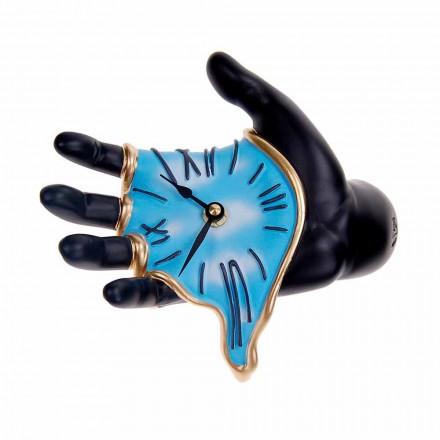Moderní designové nástěnné hodiny v řemeslné pryskyřici vyrobené v Itálii - Seveso