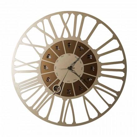 Vyrobeno v Itálii Dvoubarevné železné designové nástěnné hodiny - Kozoroh