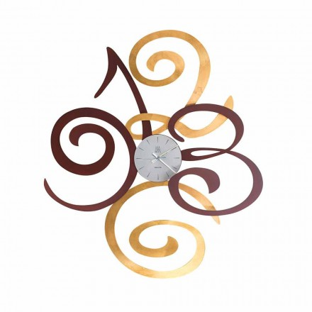 Design nástěnné hodiny v barevné železo vyrobené v Itálii - Fiordaliso