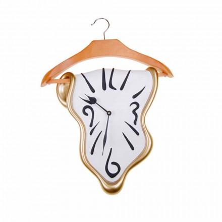Designové nástěnné hodiny v ručně malované pryskyřici vyrobené v Itálii - Mailo