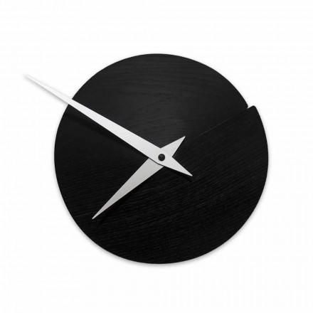 Průměr kulatých nástěnných hodin 19,5 cm ve dřevě Vyrobeno v Itálii - Cratere