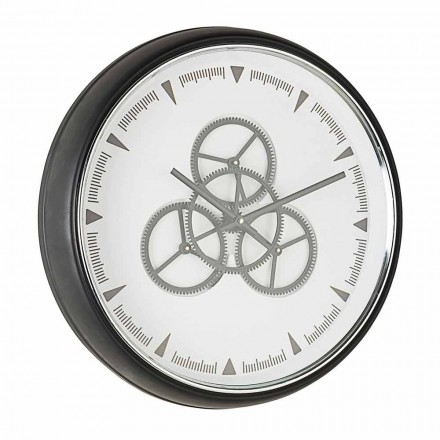 Průměr nástěnných hodin 50 cm v oceli a skle Homemotion - Severio