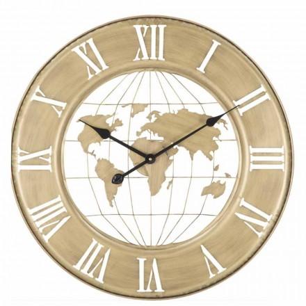 Železné nástěnné hodiny moderního designu o průměru 63 cm - Telma