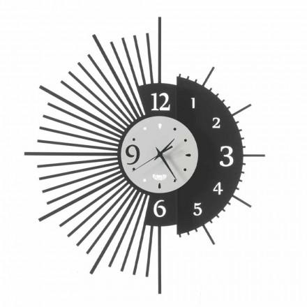 Železné nástěnné hodiny elegantní design vyrobený v Itálii - Aneto