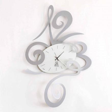 Nástěnné hodiny v černé železo, hliník nebo červená Vyrobeno v Itálii - Rosbif