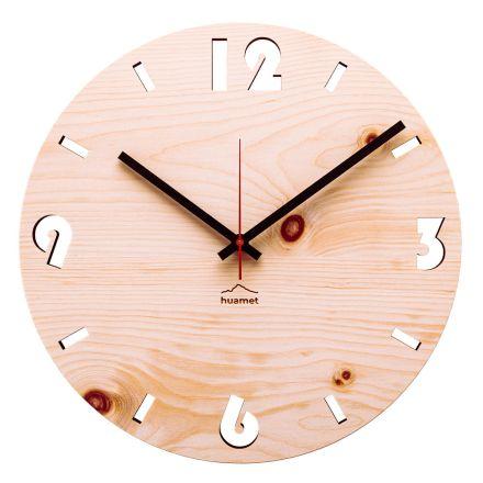 Nástěnné hodiny ve švýcarském borovém dřevě vyrobené v Itálii Andrea