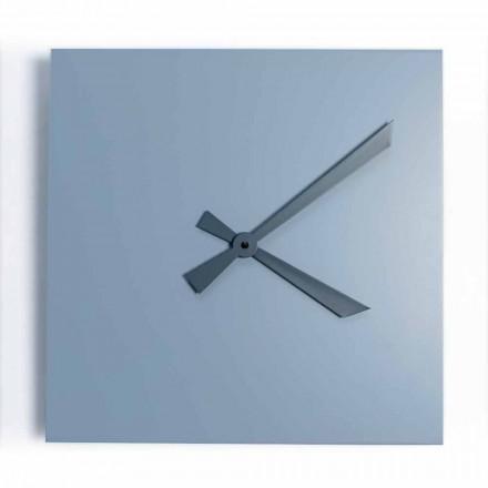 Průmyslové a moderní čtvercové nástěnné hodiny italského designu - Titan