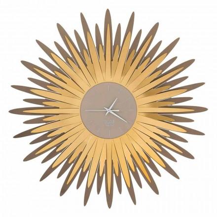Moderní nástěnné hodiny s tvarem železa vyrobené v Itálii - Fuoco