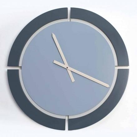 Moderní kulaté nástěnné hodiny v bílé modré Avio - Savio