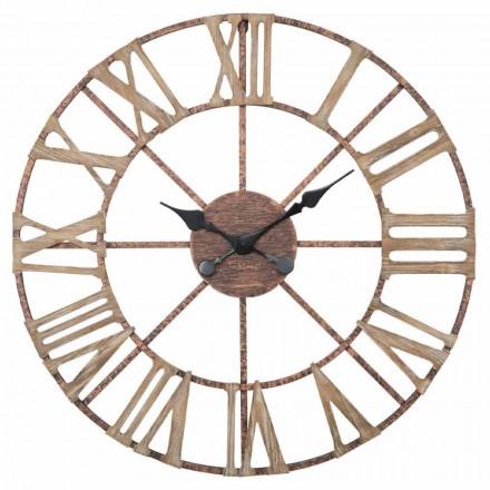 Moderní průměr nástěnných hodin 71,5 cm v železe a MDF - Carcans