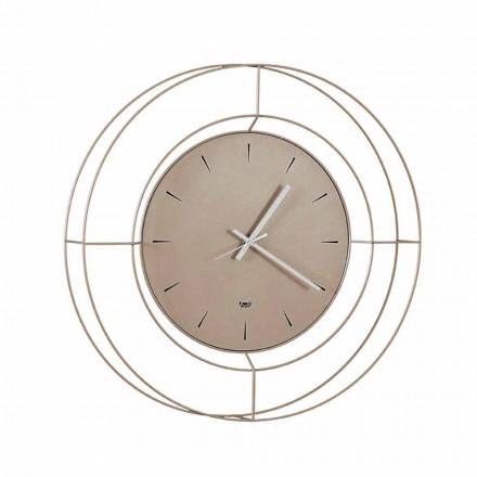 Moderní nástěnné hodiny z barevné oceli vyrobené v Itálii - Adalgiso