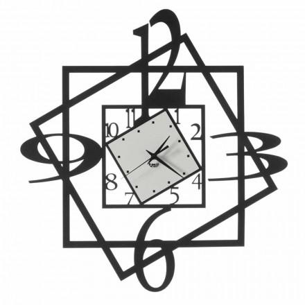 Moderní železné nástěnné hodiny s geometrickým designem vyrobené v Itálii - Procida