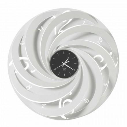 Kulaté železné nástěnné hodiny vyrobené v italském designu - Salomone