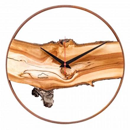 Kulaté nástěnné hodiny z masivního dřeva Apple vyrobené v Itálii - Sirmione