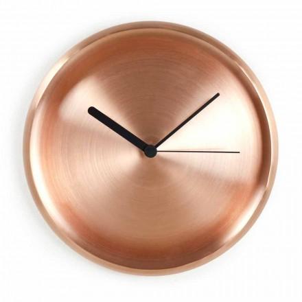 Kulaté nástěnné hodiny v leštěném měděném provedení Vyrobeno v Itálii - Ogio