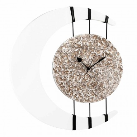 Nástěnné hodiny zavěšené na návrhových šňůrkách vyrobených v Itálii Jilly