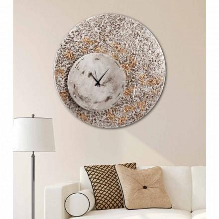 Nástěnné hodiny na dvou úrovních designu vyrobené v Itálii Eccli