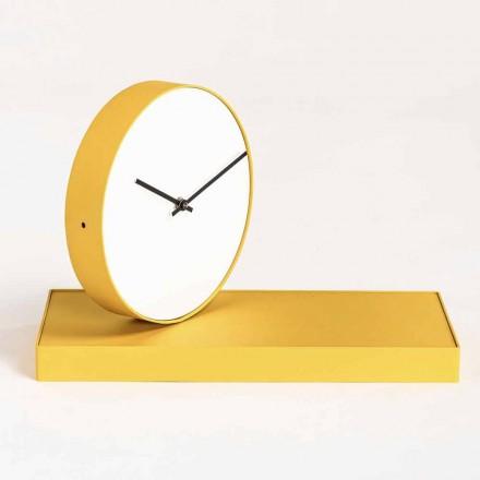 Otočné stolní hodiny s ocelovým zrcadlem vyrobené v Itálii - Meritorious