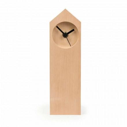 Moderní odpařené javorové dřevo stolní hodiny vyrobené v Itálii - javor