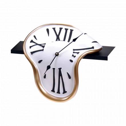 Stolní hodiny v ručně zdobené pryskyřici vyrobené v Itálii - Corin