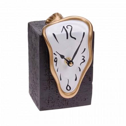 Moderní stolní hodiny s křemenným mechanismem vyrobené v Itálii - Figaro
