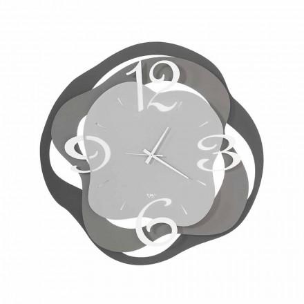 Moderní design nástěnné hodiny v železo Made in Italy - Gertrude