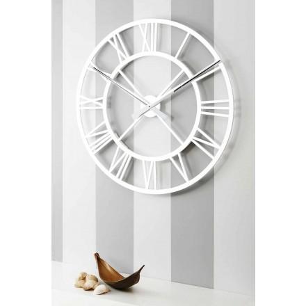 Velké ošuntělé nástěnné hodiny v retro designu dřeva - Arrigo