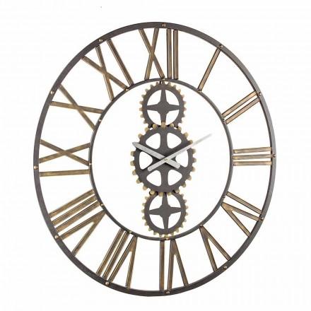 Velké nástěnné hodiny ve stylu Vintage z oceli Homemotion - květen