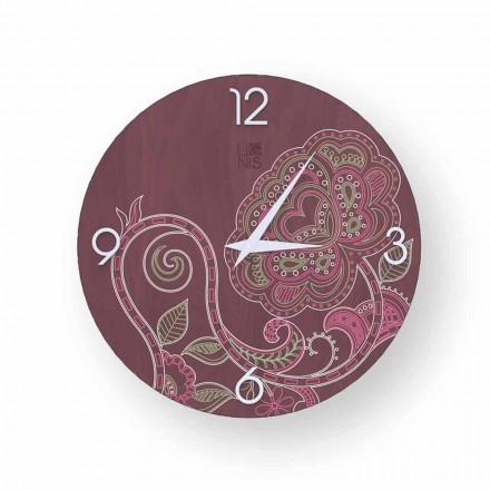 Dolo zdobené dřevěné hodiny, moderní design, vyrobené v Itálii