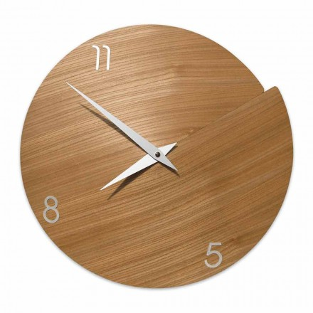 Moderní nástěnné hodiny ručně vyrobené z přírodního dřeva - Cratere