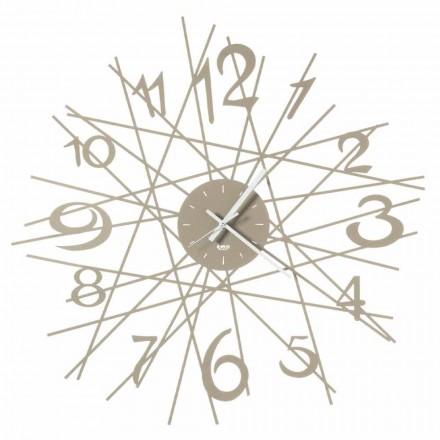 Kulaté železné designové nástěnné hodiny vyrobené v Itálii - Kombo