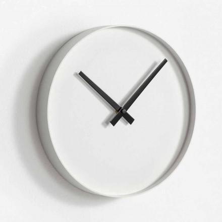 Kulaté designové nástěnné hodiny z matně lakovaného kovu - Orogio