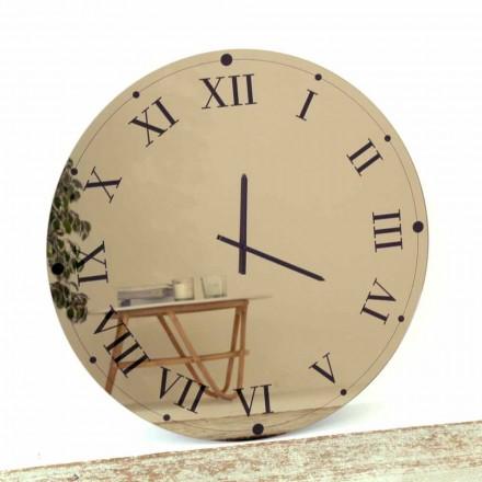 Kulaté nástěnné hodiny ze zrcadlového křišťálu vyrobené v Itálii - Gear