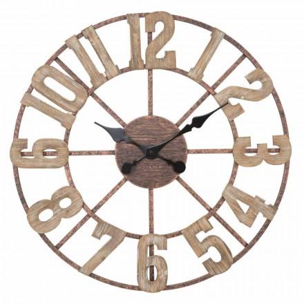 Kulaté nástěnné hodiny moderního designu ze železa a MDF - Taichi