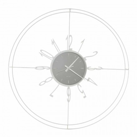 Kulaté nástěnné hodiny v bílé, černé nebo bronzové litině vyrobené v Itálii - kompas
