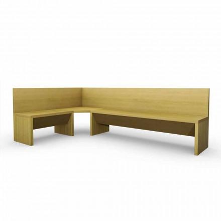 Rohová lavice z dubového dřeva s moderním designem kontejneru Cassy