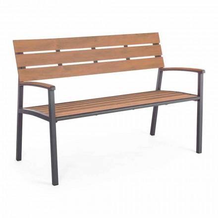 Zahradní lavice se strukturou z antracitového hliníku, Homemotion - Isotta