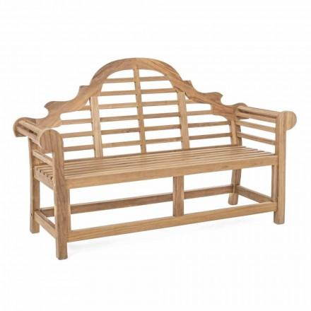 Rustikální zahradní lavička z teakového dřeva - Simonia
