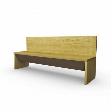 Moderní lavice s kontejnerem z dubového dřeva, vyrobené v Itálii, Cassy
