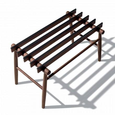 Zavazadlová lavice z masivního ořechu nebo popela vyrobeného v Itálii - Anubi
