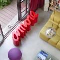 Slide Love venkovní lavička pro venkovní / vnitřní barevný design