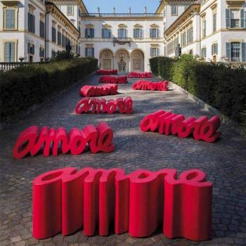 Barevné designové lavičky Slide Love made in Italy