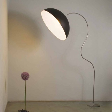 Moderní podlahová žárovka H210cm In-es.artdesign Poloměsí barevná nebulita