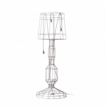 Stojací lampa do obývacího pokoje 3 světla v minimálním stylu z bílého nebo přírodního kovu - styl