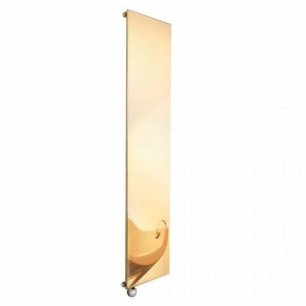 Vertikální elektrický sálavý talíř ve zlatě moderního designu do 1000 W - led