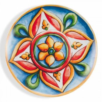 Barevné a moderní etnické talíře v porcelánu a kamenina 18 kusů Service - Maia