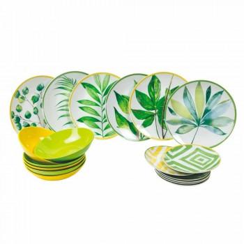 Barevné desky v porcelánu a Gres Modern Service Complete 18 Pieces - Albore